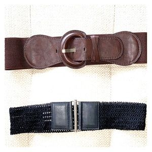 2 Waist Belts - Black & Brown